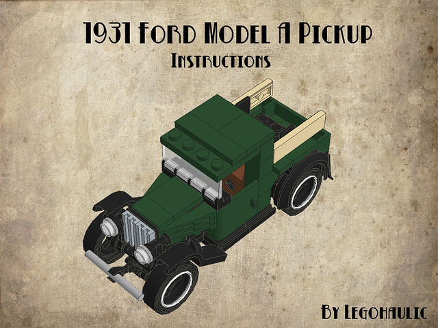 1931 Ford Model A Pickup Instructions Instructions Of My 1 Flickr
