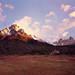sun rise over Torres del Paine 4x5