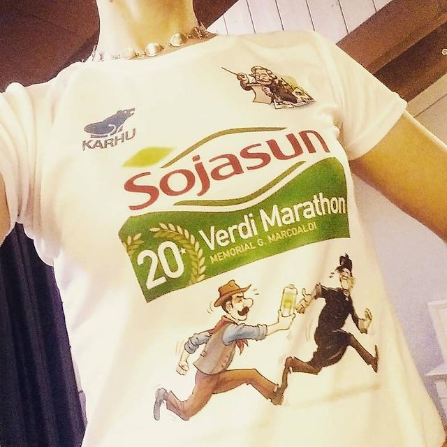 We zijn er! Morgen om 9 uur starten we! #salsomaggiore #verdimarathon #roadtoverdi #marathon
