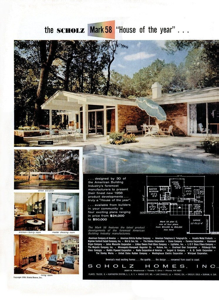 Scholz homes mark 58 midcentarc flickr for Scholz home plans