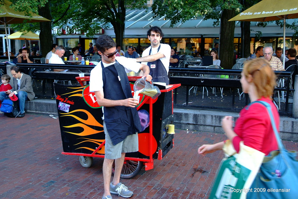Don't ask what! Free drink samples in front of the Holyoke… | Flickr