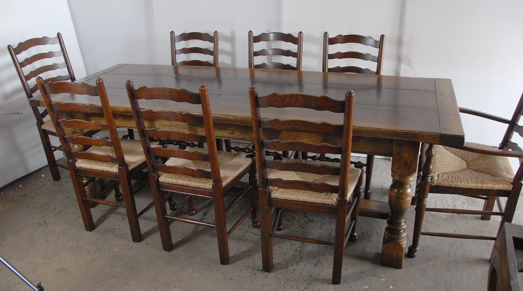 French farmhouse table and ladderback chair dining set can for French farmhouse dining chairs