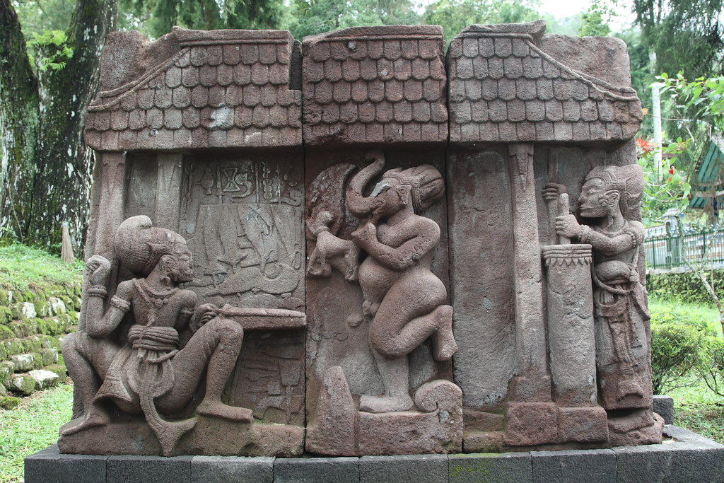 Stone carvings at candi sukuh temple central java flickr