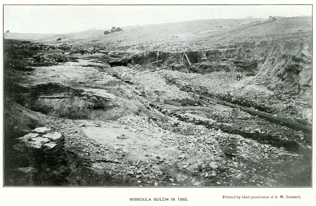 Missoula Gulch In 1885 Near Butte Montana Missoula