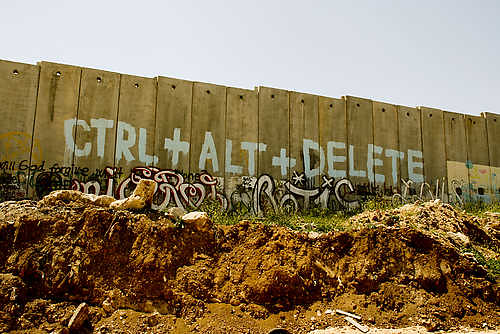 The barrier -graffiti painted - West Bank - Palestine | by Wall in Palestine