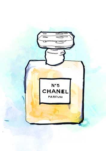 Chanel no 5 experimental fashion illustration jessicagill