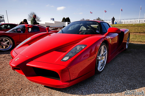 Goodwood Breakfast Club March 2010 Red Ferrari Enzo Front Quarter 10mm Shot | by NWVT.co.uk
