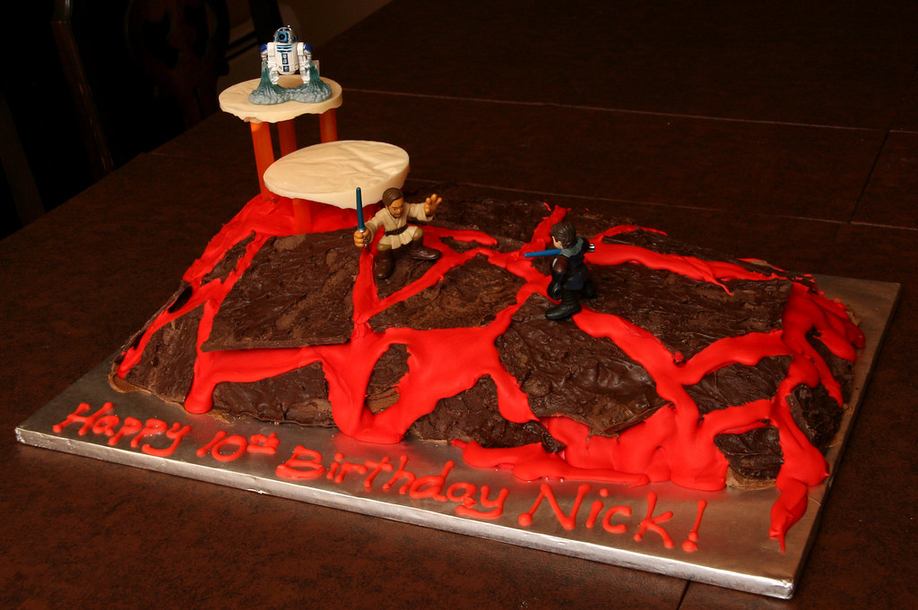 Star Wars Mustafar Lava Duel Cake This Cake Was Made For