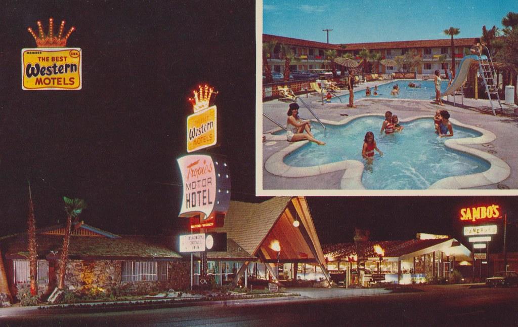 Tropics Motor Hotel - Blythe, California