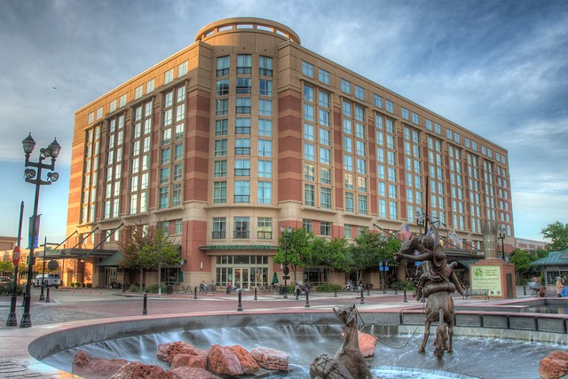 Sugar Land Town Square Marriott Hotel Hdr By Apollonian Flickr Photo Sharing