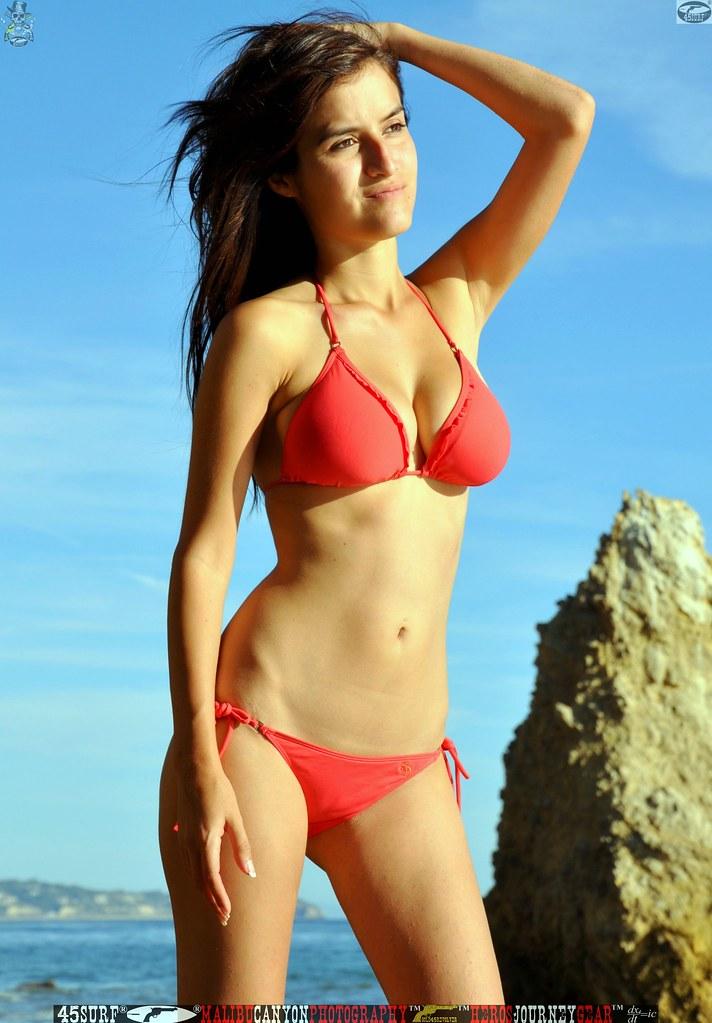 Beautiful swimsuit model
