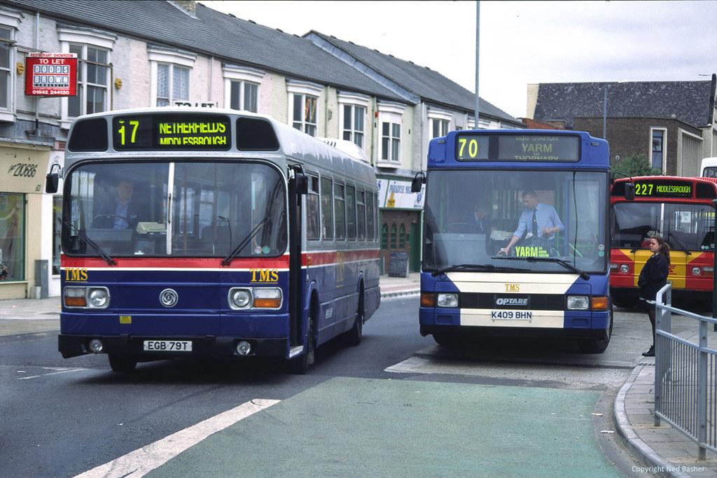 ... TMS (Ex-West Midlands Travel) Leyland National 3659 (EGB79T) & DAF