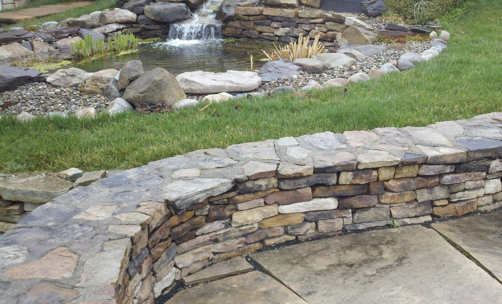 Natural Stone Seat Wall Here Is A Natural Stone Sitting