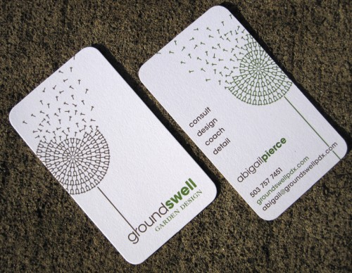 Business Cards for Groundswell Garden Design Print