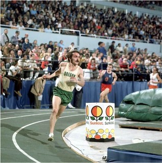 Steve Prefontaine sets a Los Angeles Arena record at the Sunkist Invitational Indoor Track and Field Meet two-mile  Race January 20, 1973 | by The Happy Rower