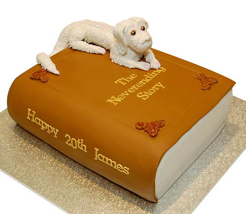 Never Ending Story Book Cake with Falcor Topper | by Say it with Cake