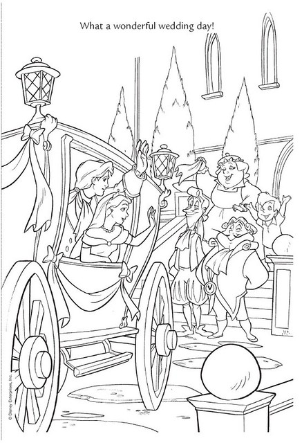 disney wedding coloring pages - photo#30