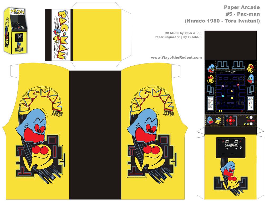 Paper Arcade Pac Man Hi Res Original Model By