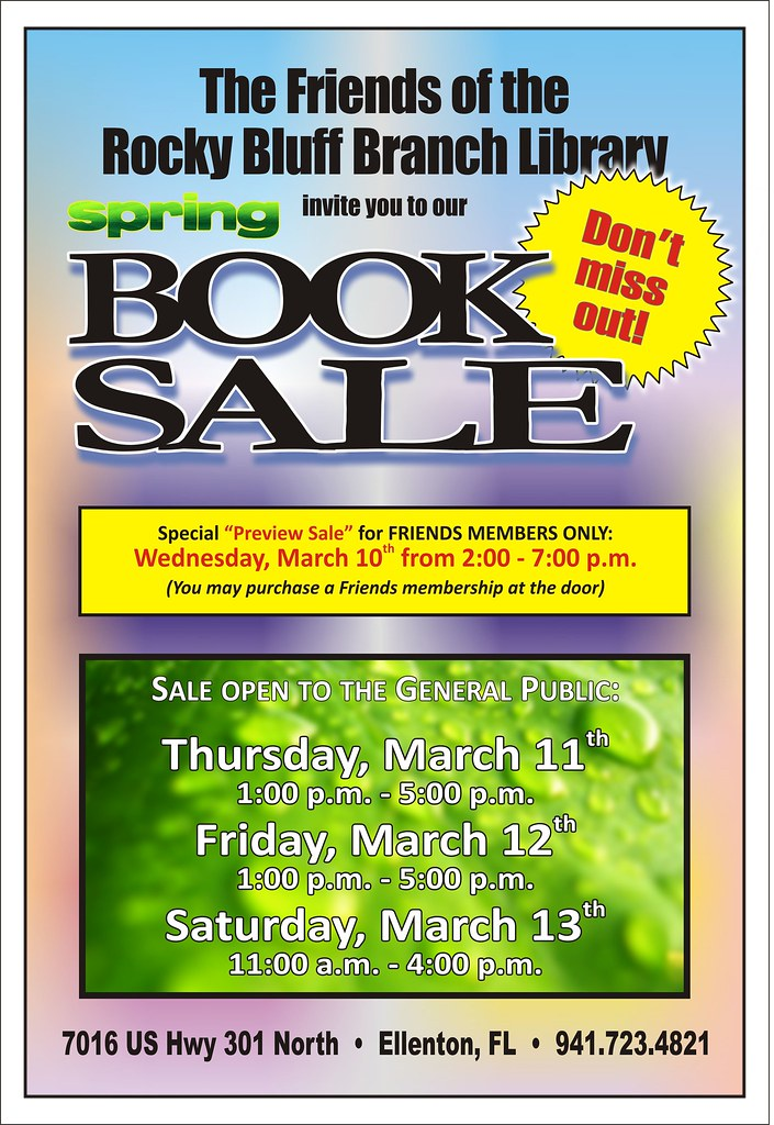 friends of the rocky bluff library spring 2010 book sale