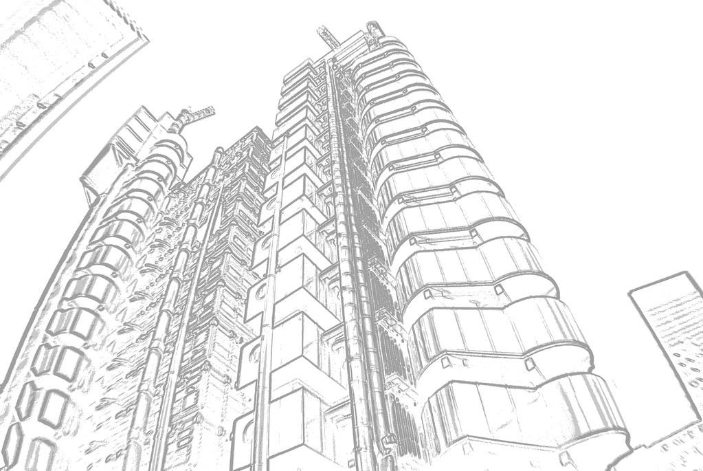lloyds building sketch marco amoedo flickr