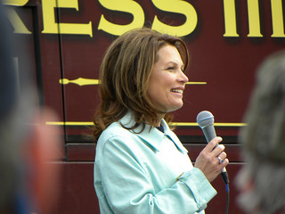 Michele Bachmann at the Tea Party Express rally in Minnesota | by Fibonacci Blue