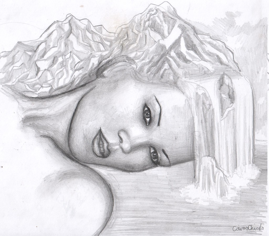desenesipicturidecorina mama natura desen in creion mother nature pencil drawing by desenesipicturidecorina