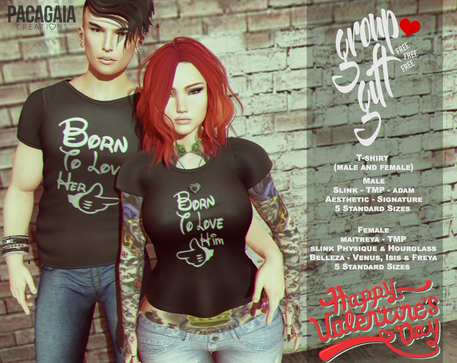COUPLE T-SHIRT - GROUP GIFT FREE - FEBRUARY#2