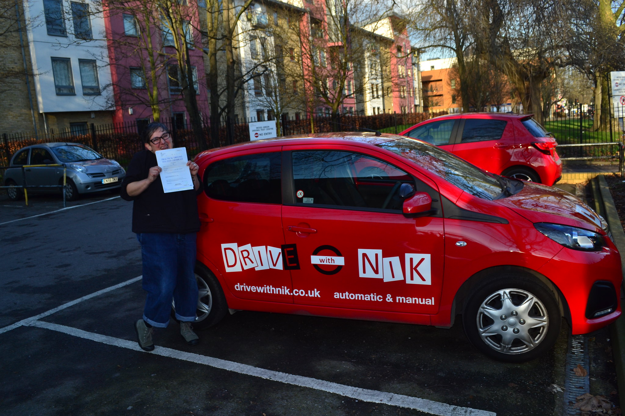 Automatic driving lessons Wood Green Fiona passed her practical driving test with Drive with Nik
