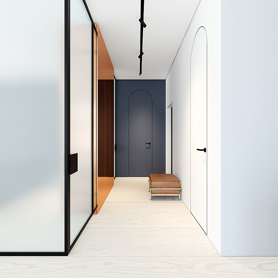 Modern minimalist interior design with skin tones by Emil Dervish Sundeno_07
