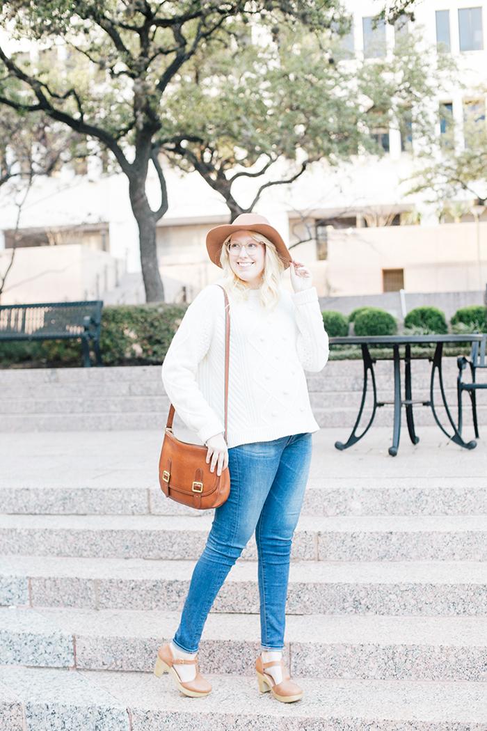 austin style blogger jcrew pom pom sweater clogs7