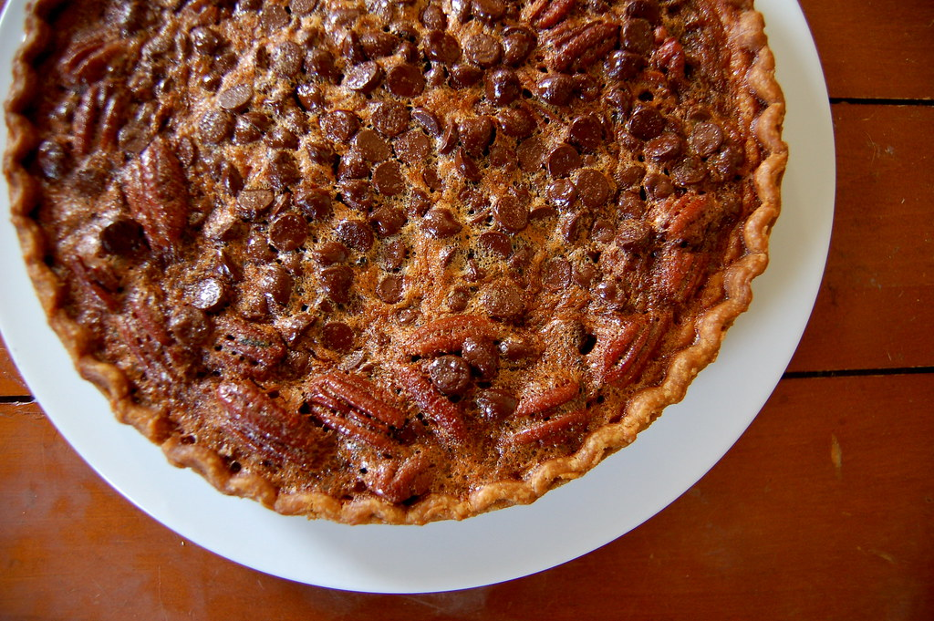 chocolate pecan pie | i used Paula Deen's recipe, but used ...