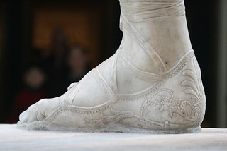 Shoe Details-Perseus with the Head of Medusa | by BrassIvyDesigns