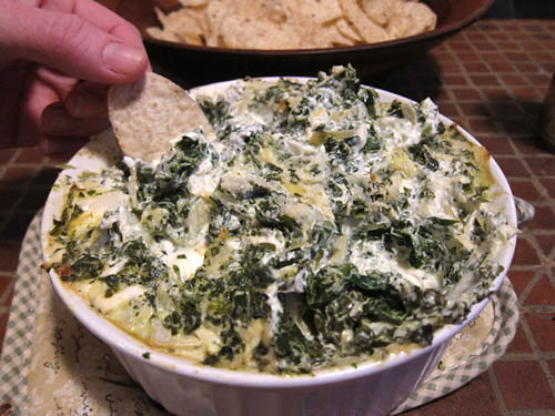 Spinach And Artichoke Cresent Ring