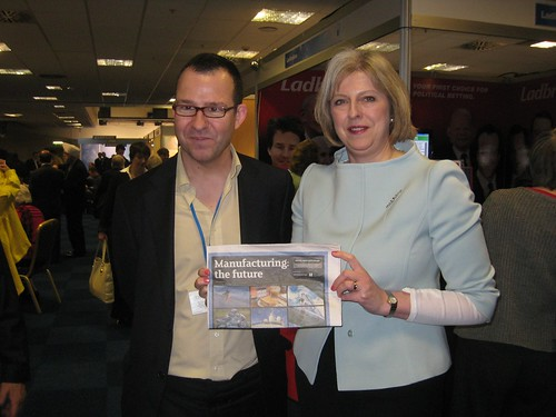 Teresa May MP and Steve Radley | by the manufacturers' organisation, EEF