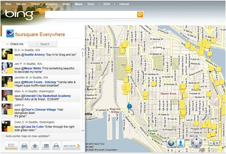 Foursquare on Bing Maps | by rustybrick
