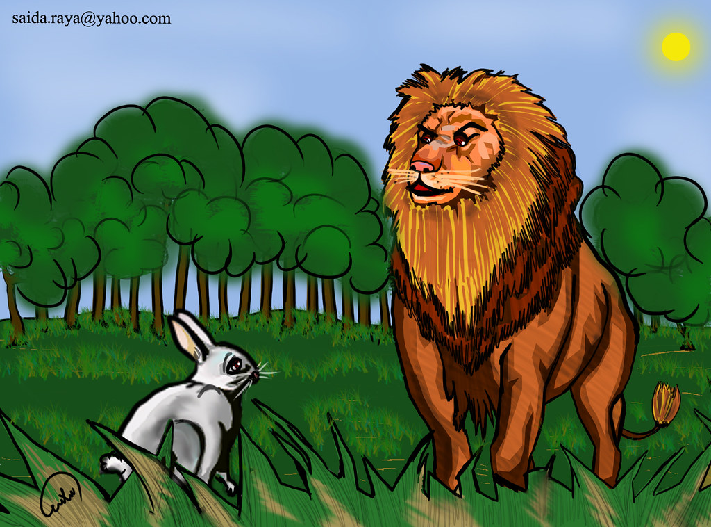 حكاية الأسد والأرنب | by zoom_artbrush حكاية الأسد والأرنب | by  zoom_artbrush