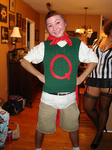 Kimiko as Quail Man | Kimiko's favorite Halloween costume ... Quailman Costume