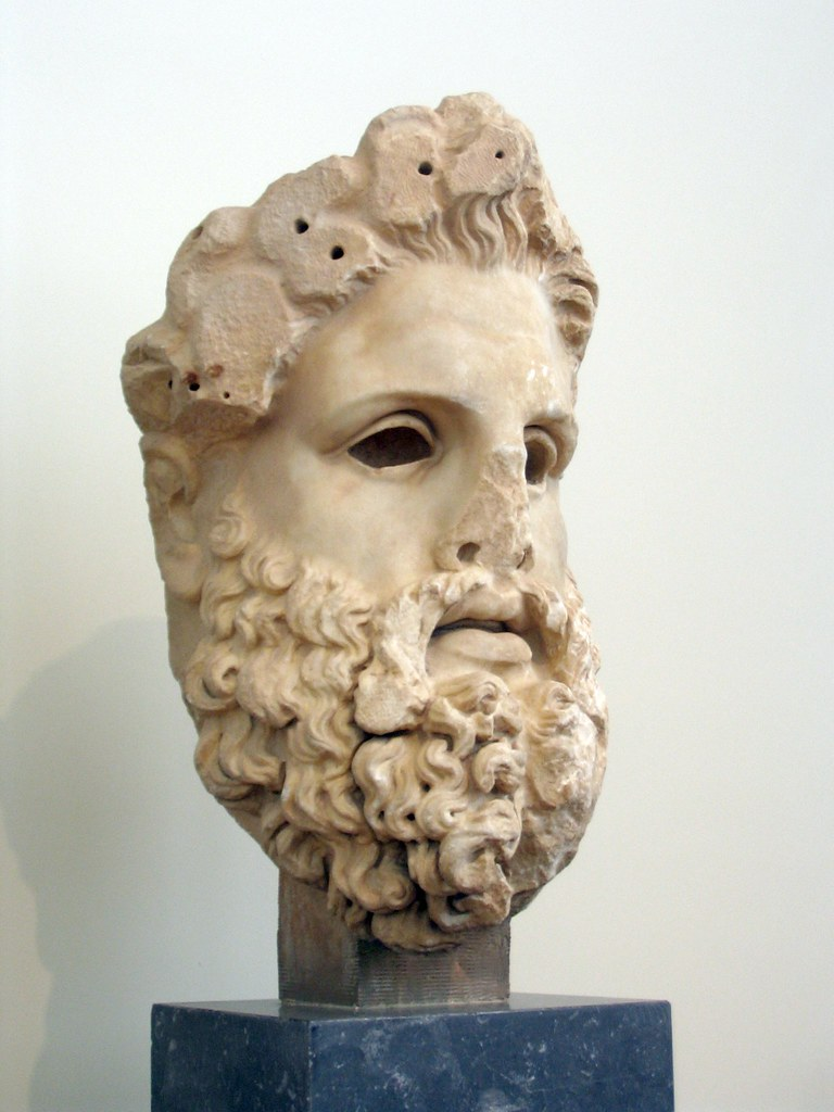 Head Of Colossal Zeus Head From A Colossal Marble Cult