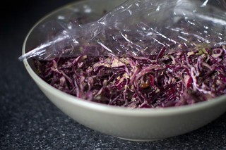 green onion, red cabbage slaw | by smitten kitchen