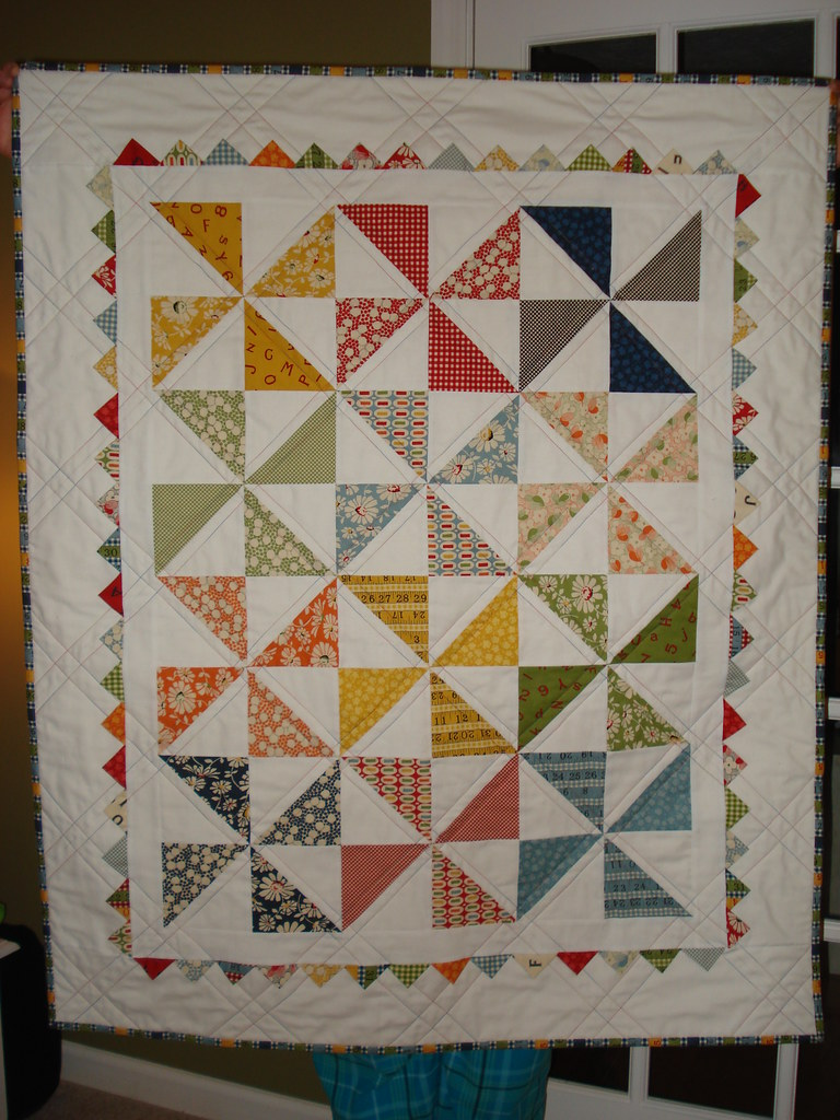 Pinwheel Baby Quilt - Front My finished Pinwheel Baby Quil? Flickr