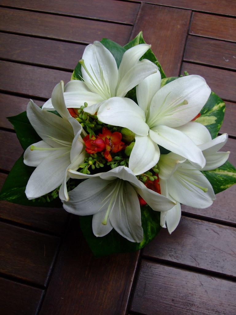 White Lilly Wedding Bouquet | www.fbdesign.com.au P79 Fully … | Flickr