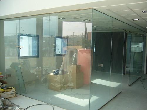 Divisorias de oficinas pared de vidrio de seguridad 5 for Cerramientos oficinas