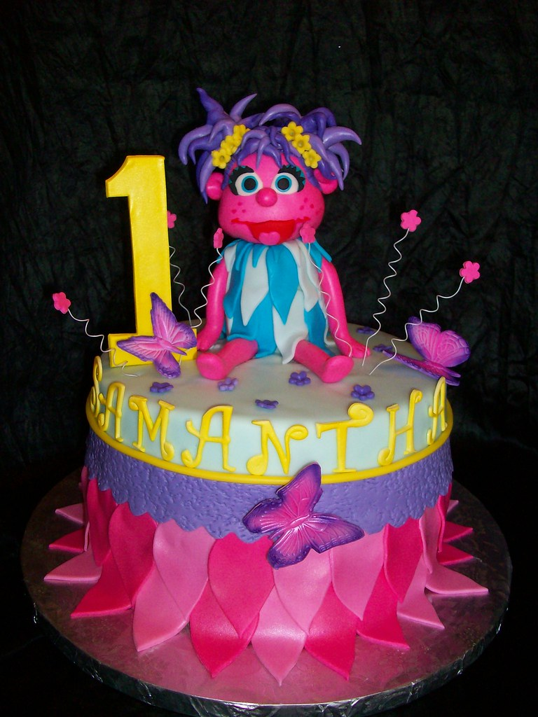 Abby Cadabby Birthday Cake I Designed This Cake For My Swe Flickr