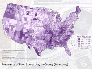 Prevalence of food stamp use | by MapScience