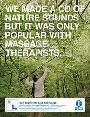 We made a cd of nature sounds but it was only popular with massage therapists. | by one percent for the planet