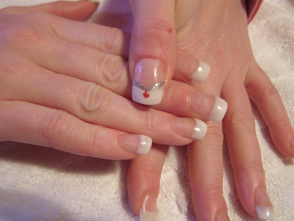 Nail art - Glitter Diamond   Acrylic nail extensionsn with g…   Flickr