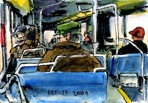 Many people on the bus wear hats | by Floodfish
