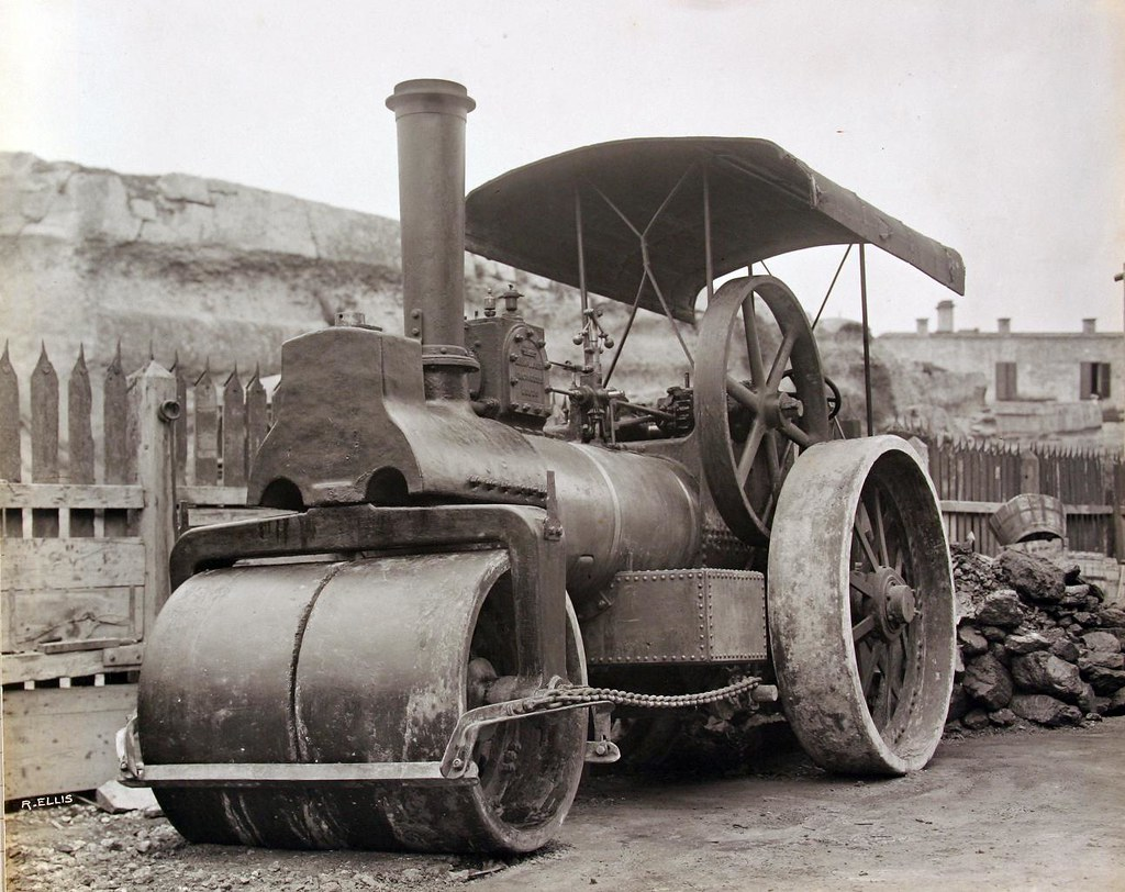 Business Companies In Malta Mail: PWD Steam Road Roller - 1903