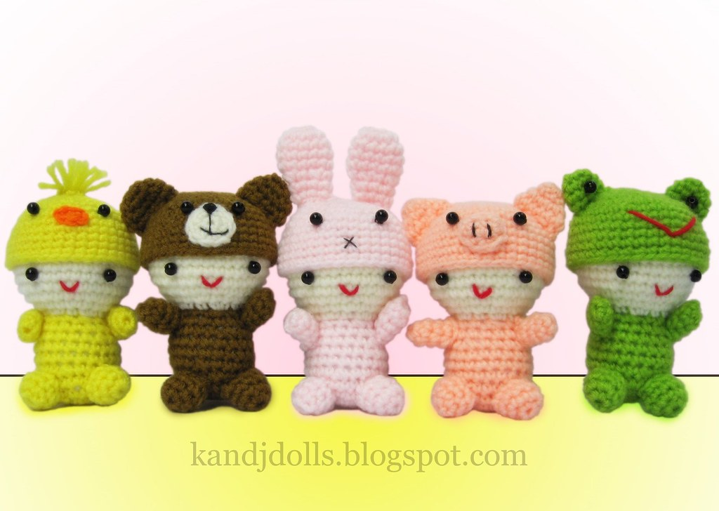 Micro Amigurumi Animal Patterns : Little Babies Amigurumi animal crochet pattern For ...