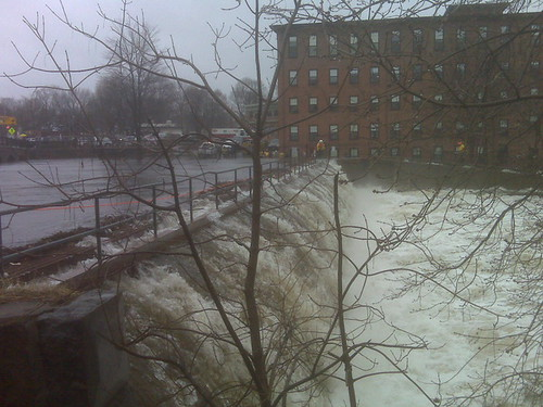 Flood Waters, Moody Street Dam, Charles River, March 15, 2010 | by MassDOT